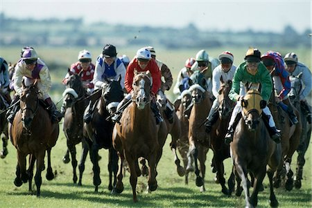 Horse Racing, The Curragh, County Kildare, Ireland Stock Photo - Rights-Managed, Code: 832-03640799