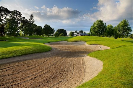 Sand Trap On Golf Course Stock Photo - Rights-Managed, Code: 832-03640838