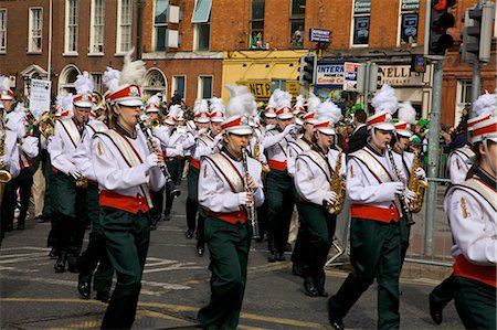 Dublin, Ireland; Clondalkin Youth Band Playing In A Parade On O'connell Street Stock Photo - Rights-Managed, Code: 832-03641004