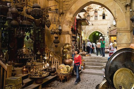Tourists on souk Stock Photo - Rights-Managed, Code: 832-03724894