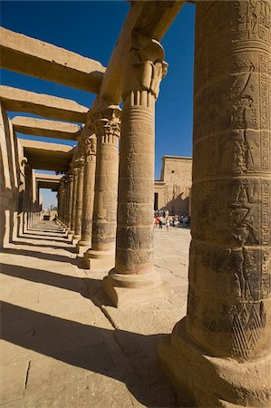Looking along West Colonnade to Temple of Isis Stock Photo - Rights-Managed, Code: 832-03725021