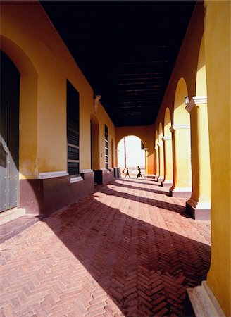 Colonial arcade in Trinidad, Cuba Stock Photo - Rights-Managed, Code: 832-03723764