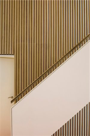 residential - Lacemaker's Eco House, Nottingham. Staircase. Architects: Marsh and Grochowski Architects Stock Photo - Rights-Managed, Code: 845-04826521