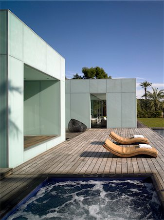 Glass Villa, Ibiza. 2006. Architects: Vicens + Ramos Arquitectos Stock Photo - Rights-Managed, Code: 845-04826534