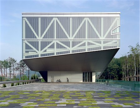 south - Seoul National University Museum, Seoul. 1997. Architects: OMA - Rem Koolhaas Stock Photo - Rights-Managed, Code: 845-04826541