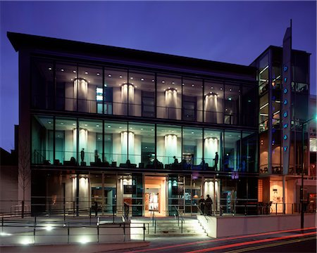 Broadway Arts Cinema, Nottingham. 2006. Architects: Burrell Foley Fischer Architects Stock Photo - Rights-Managed, Code: 845-04826556