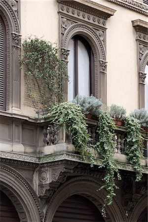 Architectural details, Milan. Stock Photo - Rights-Managed, Code: 845-04826798