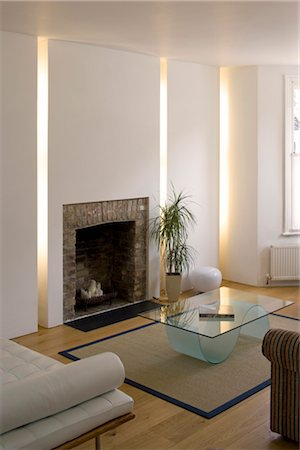 Modern conversion of a Victorian terrace, Wandsworth, London. Architects: Luis Treviño Fernandez Stock Photo - Rights-Managed, Code: 845-05837678