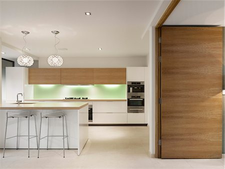 Modern kitchen, Private House, Worsley. Architects: Stephenson Bell Stock Photo - Rights-Managed, Code: 845-05837750