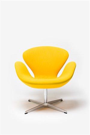 Swan Chair, Danish, 1958. Designer: Arne Jacobsen Stock Photo - Rights-Managed, Code: 845-05837813