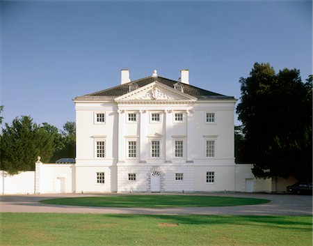 Marble Hill House. North front of house. 1729. Architects: Roger Morris Stock Photo - Rights-Managed, Code: 845-05839424