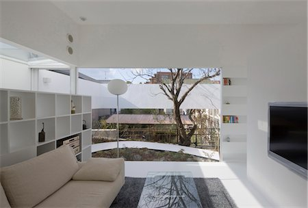 Atelier-Bisque Doll, Private House + Atelier, Living room. Architects: Keisuke Maeda, UID Architects Stock Photo - Rights-Managed, Code: 845-05839521