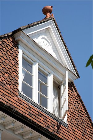 residential - Pantiles Roof Detail, Tunbridge Wells, Kent, UK. Stock Photo - Rights-Managed, Code: 845-06008016