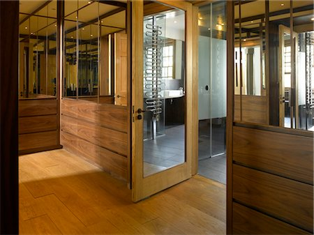 View through open door in Chelsea home, London, UK. Architects: Chris Dyson Architects Stock Photo - Rights-Managed, Code: 845-06008038