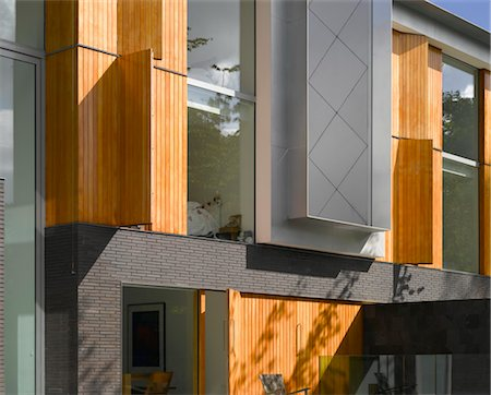 Modern exterior of Pond and Park House, Dulwich, London, UK. Architects: Stephen Marshall Stock Photo - Rights-Managed, Code: 845-06008056