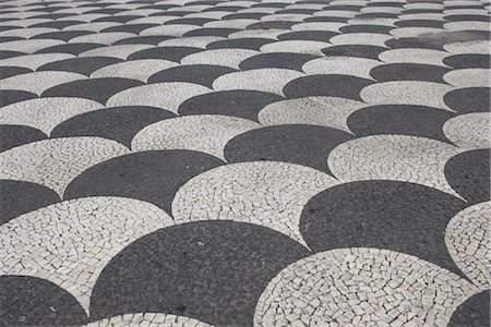 portuguese (places and things) - Black and white mosaic paving, Portugal. Stock Photo - Rights-Managed, Code: 845-06008099