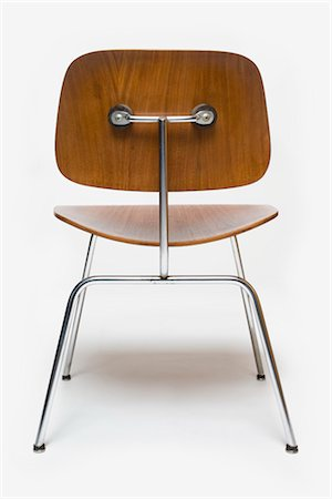 Dining Chair Metal aka DCM, American, 1950s, manufactured by Herman Miller. Designer: Charles and Ray Eames Stock Photo - Rights-Managed, Code: 845-06008167