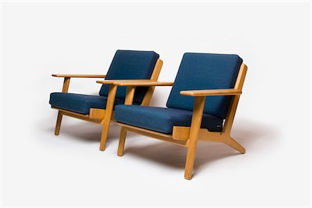 GE-290 Armchair, Danish, 1960s, manufactured by Getama. Designer: Hans J Wegner Stock Photo - Rights-Managed, Code: 845-06008163