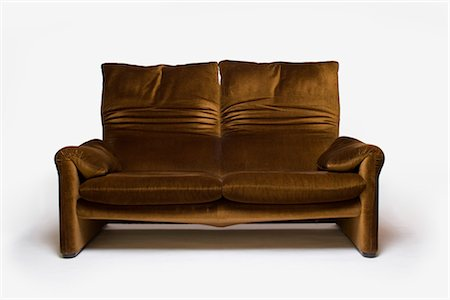 Maralunga Sofa, Italian, 1970s, manufactured by Cassina. Designer: Vico Magistretti Stock Photo - Rights-Managed, Code: 845-06008176