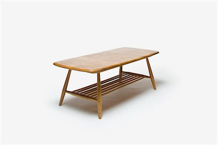 Coffee Table (Model 662), 1960s, manufactured by Ercol. Designer: Lucien Ercolani Stock Photo - Rights-Managed, Code: 845-06008178