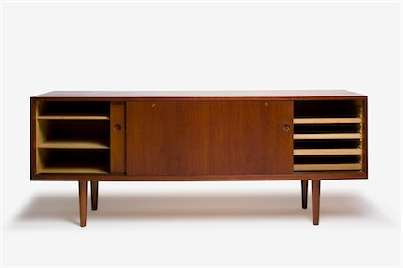 RY-26 Teak Cabinet, Danish, manufactured by RY Mobler. Designer: Hans J Wegner Stock Photo - Rights-Managed, Code: 845-06008179