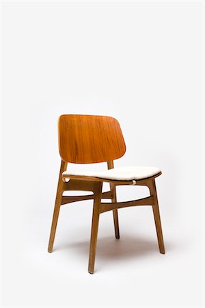Chair, Danish, 1950s, manufactured by Fredericia Mobefabric. Designer: Borge Mogensen Stock Photo - Rights-Managed, Code: 845-06008171