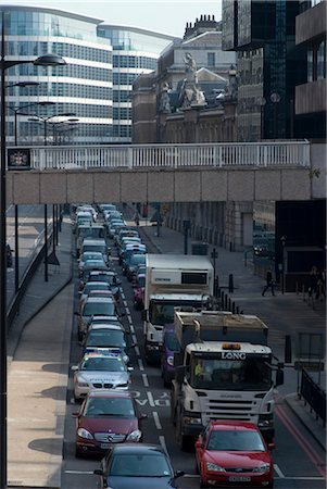 Traffic congestion on Upper Thames Street, London EC4 Stock Photo - Rights-Managed, Code: 845-06008263