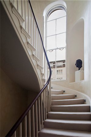 residential - Staircase in Georgian town house, London Stock Photo - Rights-Managed, Code: 845-07561445