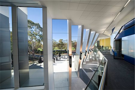 John Curtain School of Medical Research, Canberra, Australia. Architect: Lyons. Stock Photo - Rights-Managed, Code: 845-02729001