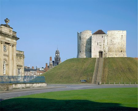Clifford's Tower York.View from south east. Stock Photo - Rights-Managed, Code: 845-03464701