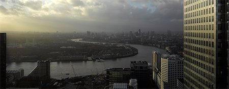 London Panorama from Citigroup Tower, London. Stock Photo - Rights-Managed, Code: 845-03463378