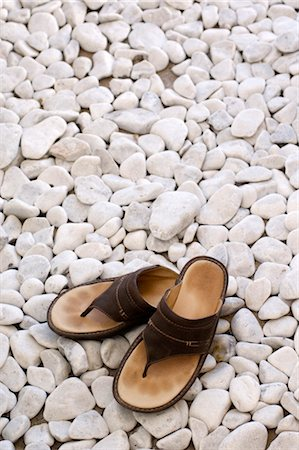 simsearch:845-03720933,k - Sandals on white stones. Stock Photo - Rights-Managed, Code: 845-03463668