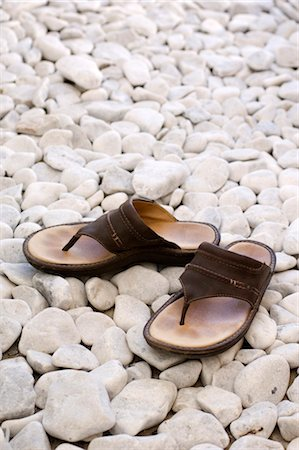 simsearch:845-03720933,k - Sandals on white stones Stock Photo - Rights-Managed, Code: 845-03463669