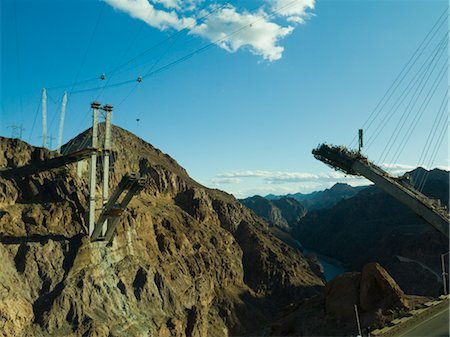 simsearch:845-03720933,k - View showing construction of the new Hoover Dam bridge from Nevada side Stock Photo - Rights-Managed, Code: 845-03463692