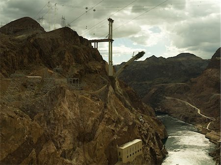 simsearch:845-03720933,k - Construction of new Hoover bridge, Arizona side from Hoover Dam, Grand Canyon and Colarodo river Stock Photo - Rights-Managed, Code: 845-03463702