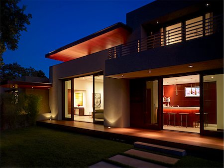residential - Shimmon House, Los Altos Hills, California.  Architects: SWATT Architects Stock Photo - Rights-Managed, Code: 845-03552488