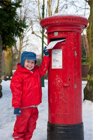 Posting a letter to Santa, England.Post box, Letter box, snow Stock Photo - Rights-Managed, Code: 845-03552596