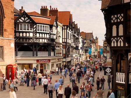Northgate and Eastgate Row, Chester Stock Photo - Rights-Managed, Code: 845-03553001