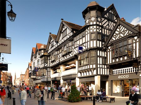Northgate and Eastgate Row, Chester Stock Photo - Rights-Managed, Code: 845-03553002
