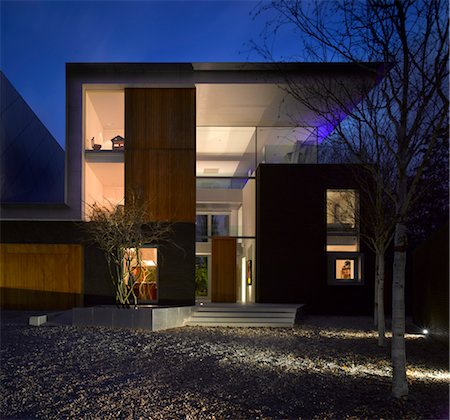 Pond and Park House, Dulwich, London. Architects: Stephen Marshall Stock Photo - Rights-Managed, Code: 845-03720710