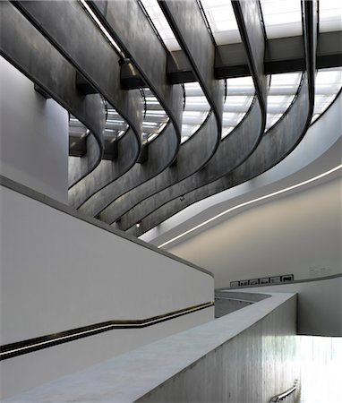 dynamic - Architectural forms at the MAXXI, National Museum of 21st Century Arts, Rome. Architects: Zaha Hadid Architects Stock Photo - Rights-Managed, Code: 845-03720822
