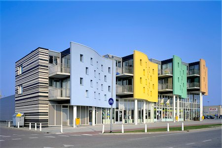 Netherlands, Flevoland, Zeewolde, residential complex by architect Sjoerd Soeters Stock Photo - Rights-Managed, Code: 845-03720999