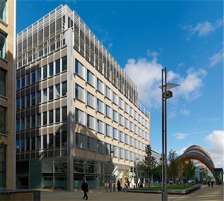 1 St Paul's Place, City centre offices, Sheffield. General view. Architects: Allies and Morrison Stock Photo - Rights-Managed, Code: 845-03721347