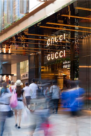 Gucci flagship store in the Paragon Centre on Orchard Road. Architects: DP Architects and Frida Giannini. Stock Photo - Rights-Managed, Code: 845-03777627