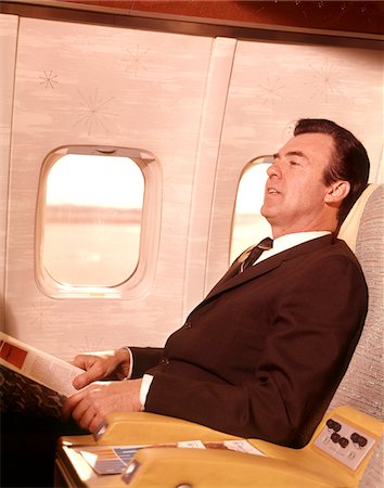 1960s MAN SITTING IN FIRST CLASS AIRPLANE PASSENGER SEAT Stock Photo - Rights-Managed, Code: 846-05646591