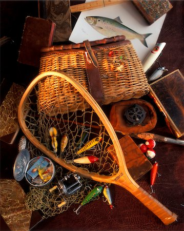 1990s STILL LIFE WITH FISHING GEAR Stock Photo - Rights-Managed, Code: 846-05646627