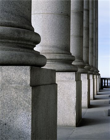 solid - 1990s GRANITE STONE COLONNADE BASE OF COLUMN ARCHITECTURE DETAIL Stock Photo - Rights-Managed, Code: 846-05646654