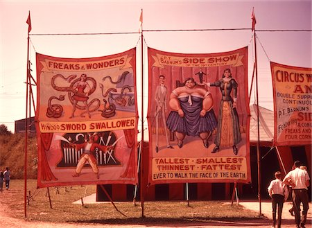 fat man full body - 1970s PAINTED CANVAS CARNIVAL CIRCUS SIDESHOW BANNERS POSTERS Stock Photo - Rights-Managed, Code: 846-05646779