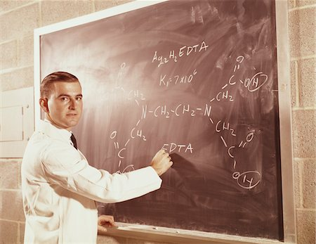 formula - 1960s SCIENCE PROFESSOR WRITING A FORMULA FOR CHELATING AGENT ON CHALKBOARD Stock Photo - Rights-Managed, Code: 846-05647177
