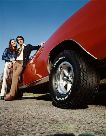 erotic female figures - 1960s - 1970s COUPLE WITH RED SPORTS CAR Stock Photo - Rights-Managed, Code: 846-05647206
